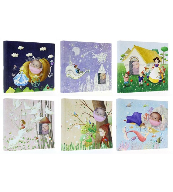 Pocket album sewn BABY200STORY</br> photos size: 10x15 </br> Number of photos:  200</br> Number of images per page: 2